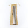 four pack stainless steel straw set