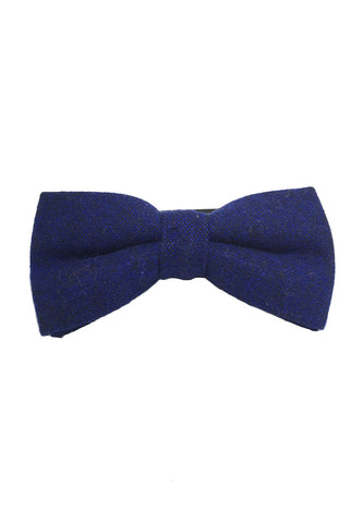 Dolly Series Navy Blue Wool Pre-tied Bow Tie