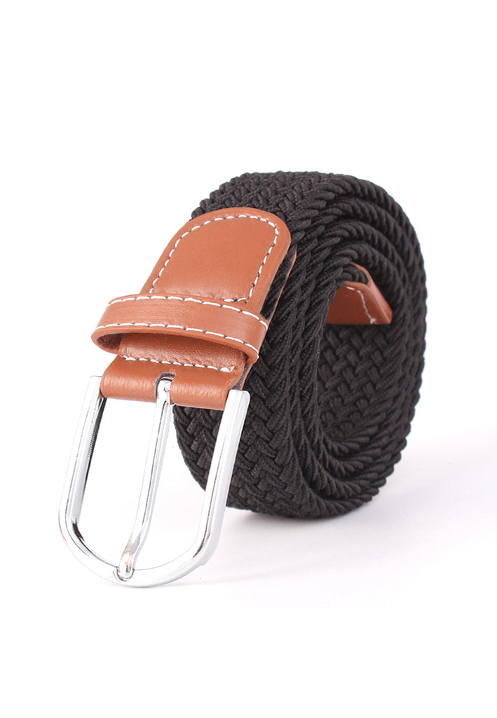 Entwine Series Black Braided Belts