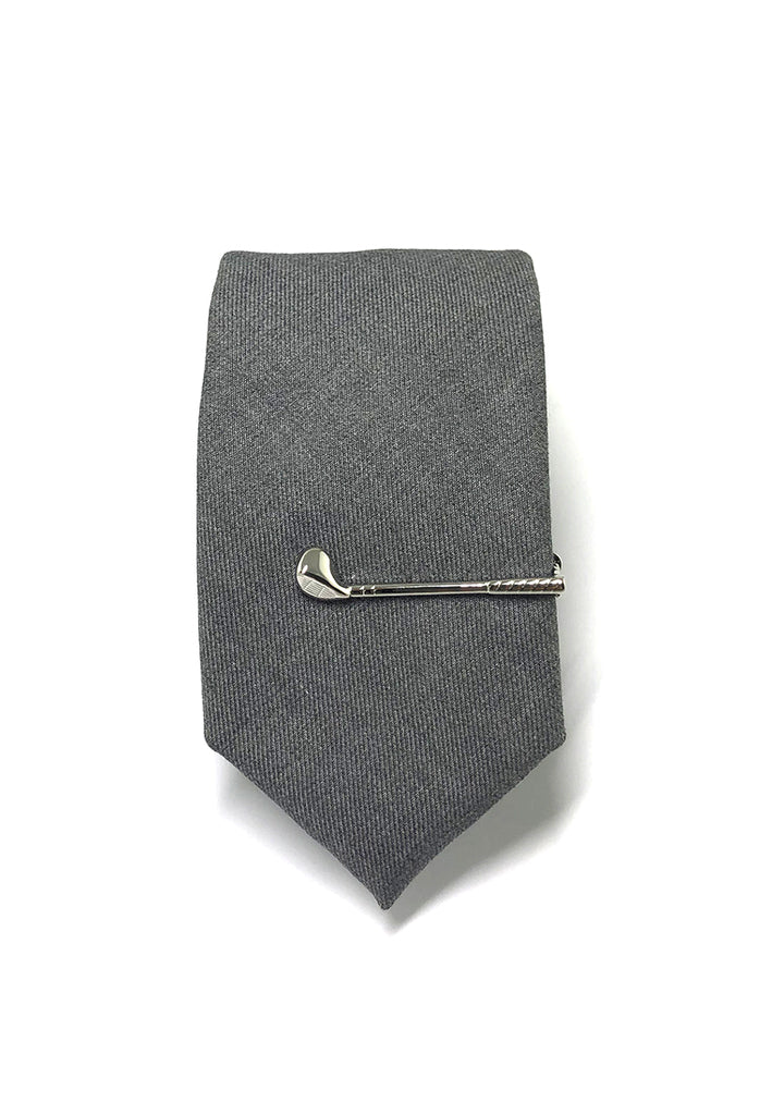 Silver Golf Clubs Tie Pin