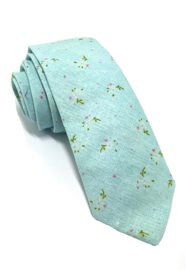 Cottage Series Baby Blue Cotton Tie