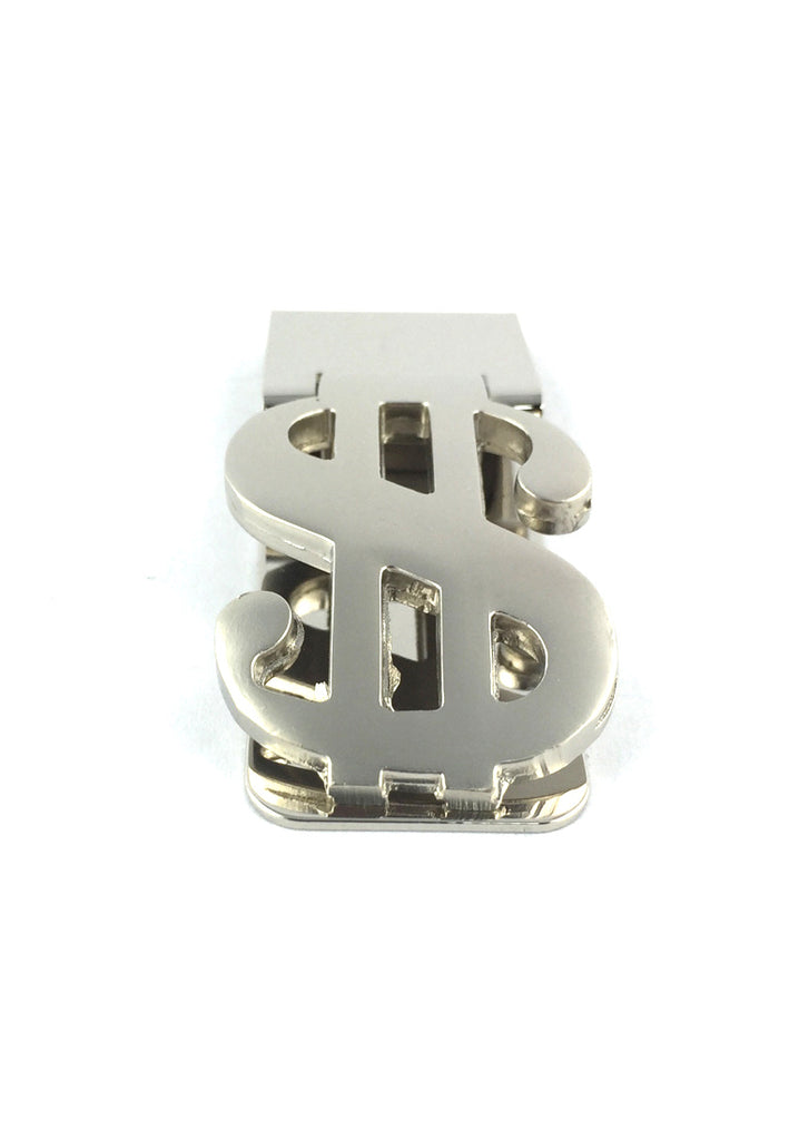 Silver Dollar Sign Money Clip