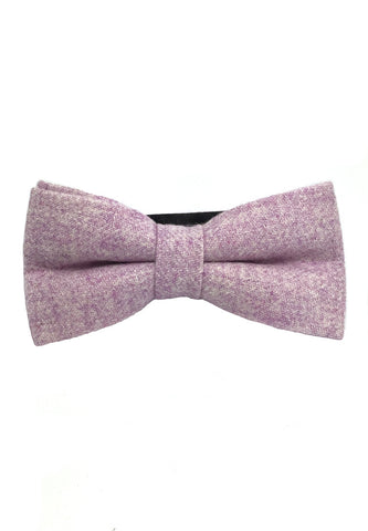 Dolly Series Light Purple Patterned Wool Pre-tied Bow Tie