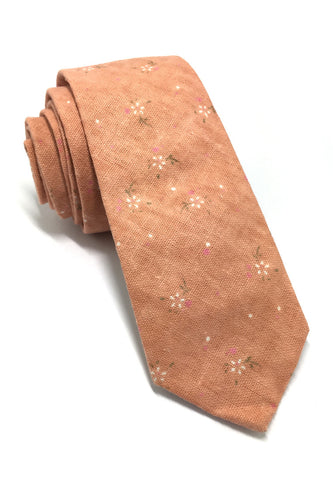 Cottage Series Orange Cotton Tie