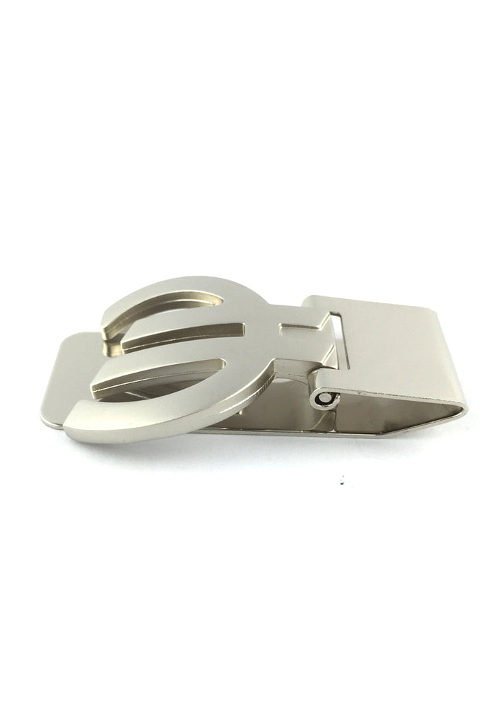 Silver Euro Sign Money Clip