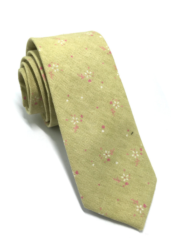 Cottage Series Mustard Cotton Tie