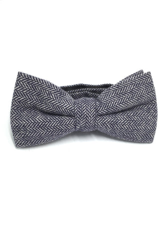 Dolly Series Blue Patterned Wool Pre-tied Bow Tie