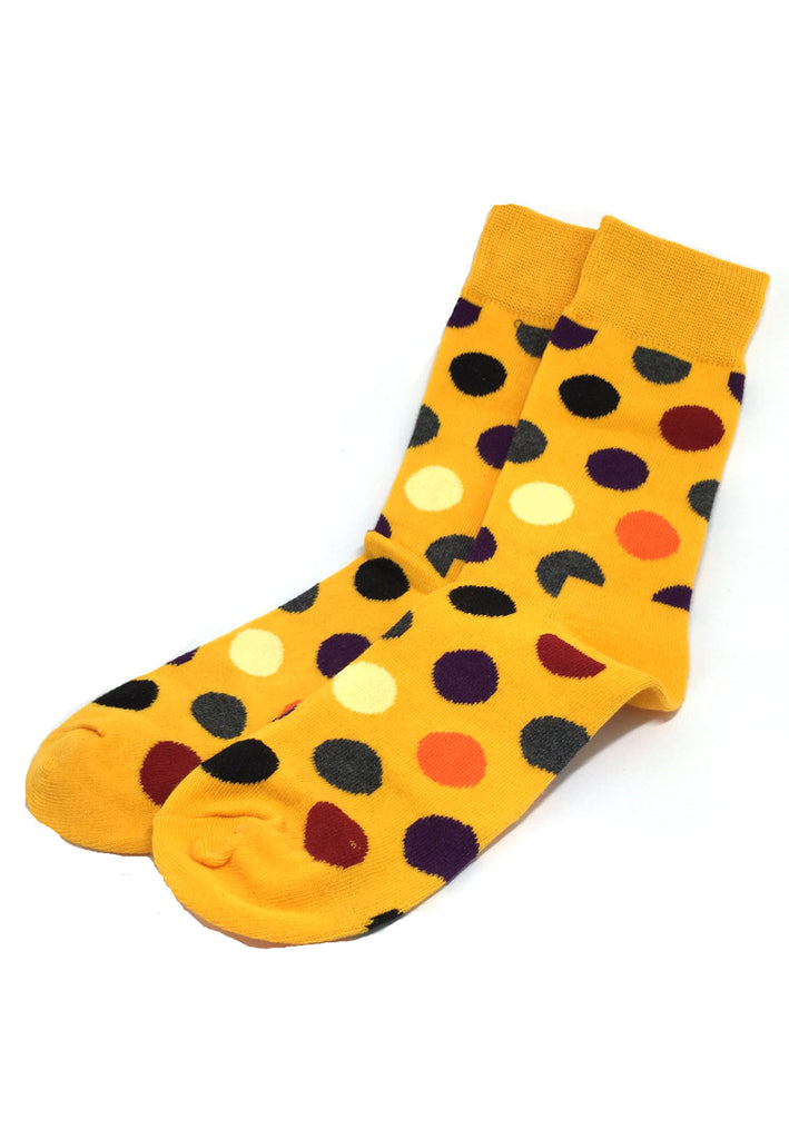 Speckle Series Multi Colour Polka Dots Orange Socks