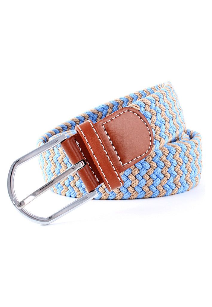 Entwine Series Light Brown & Baby Blue Braided Belts
