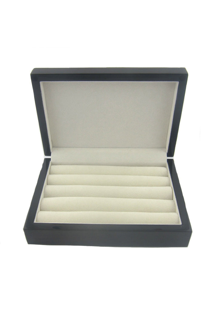 Dark Brown Glossy Finish Cufflinks Storage Box
