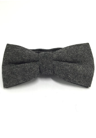 Dolly Series Gunmetal Grey Wool Pre-tied Bow Tie