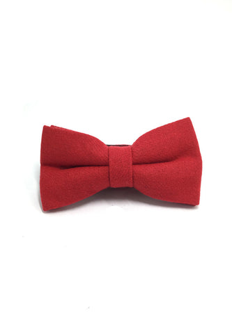 Dolly Series Bright Red Wool Pre-tied Bow Tie
