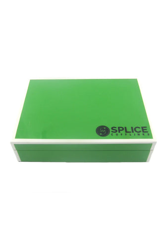 Green Glossy Finish Cufflinks Storage Box