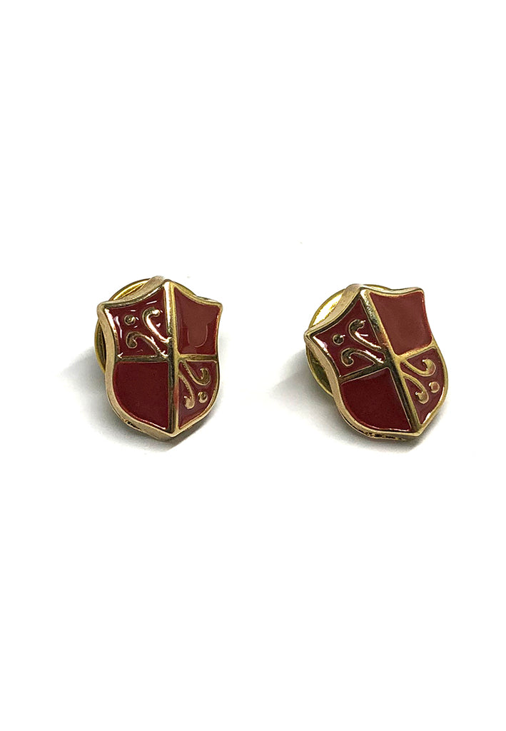 Red Shield Collar Pins