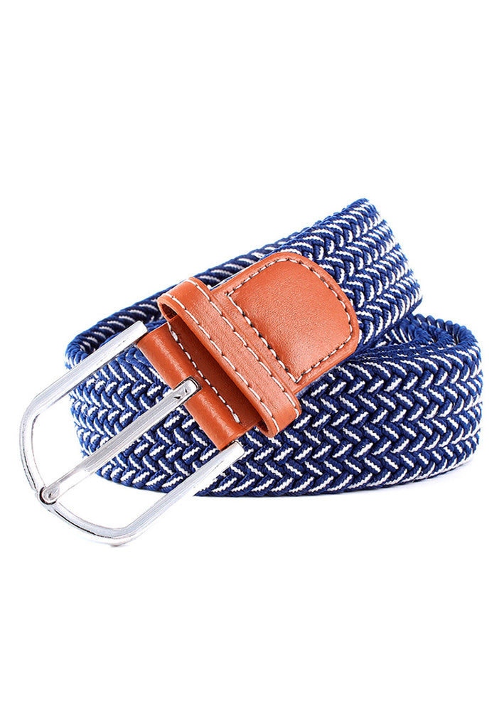 Entwine Series Blue & White Braided Belts