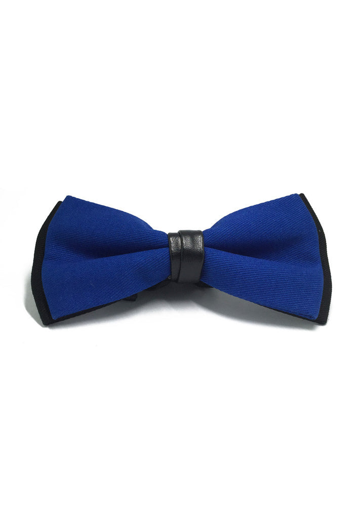 Sassy Series Blue Cotton Pre-tied Bow Tie