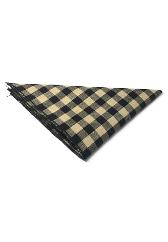 Patchwork Series Black Plaids Design with Black Linings Cotton Pocket Square