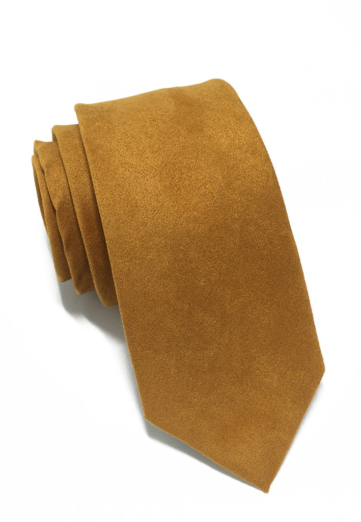 Suede Series Golden Brown Suede Tie