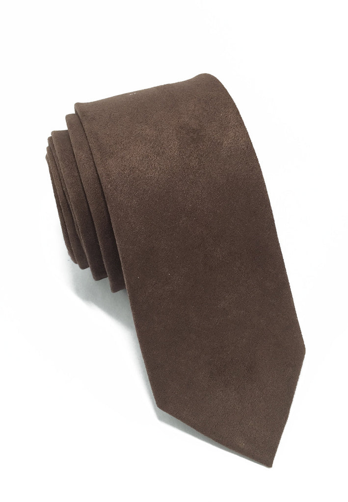 Suede Series Dark Brown Suede Tie