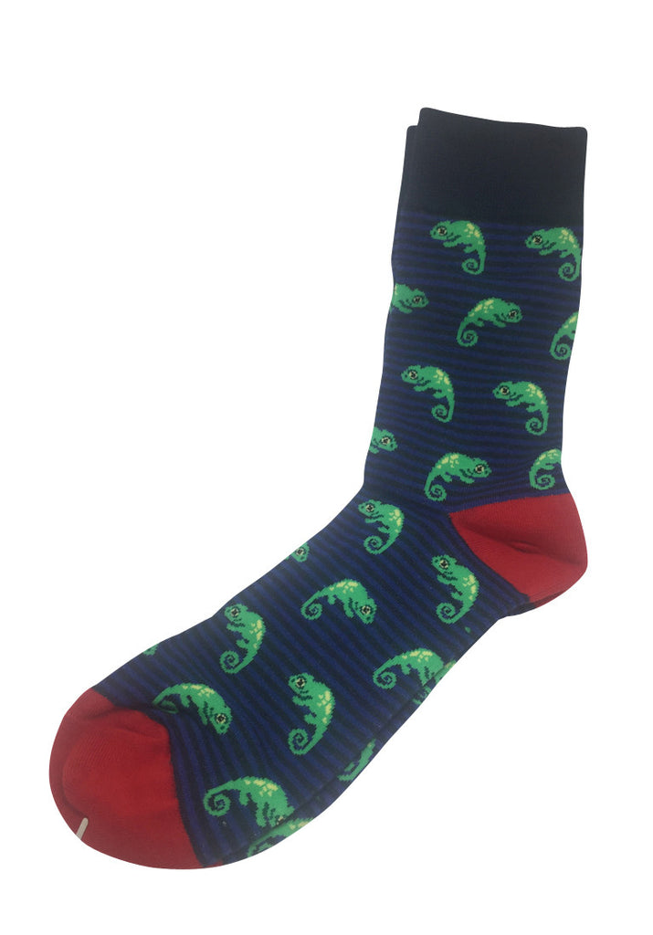 Splashy Series Iguana Design Socks