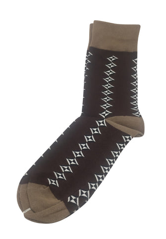Allotropes Series Brown Socks