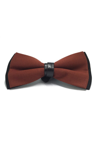 Sassy Series Dale Orange Cotton Pre-tied Bow Tie