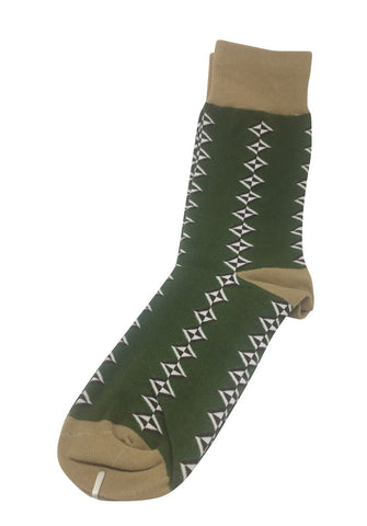 Allotropes Series Green and Brown Socks