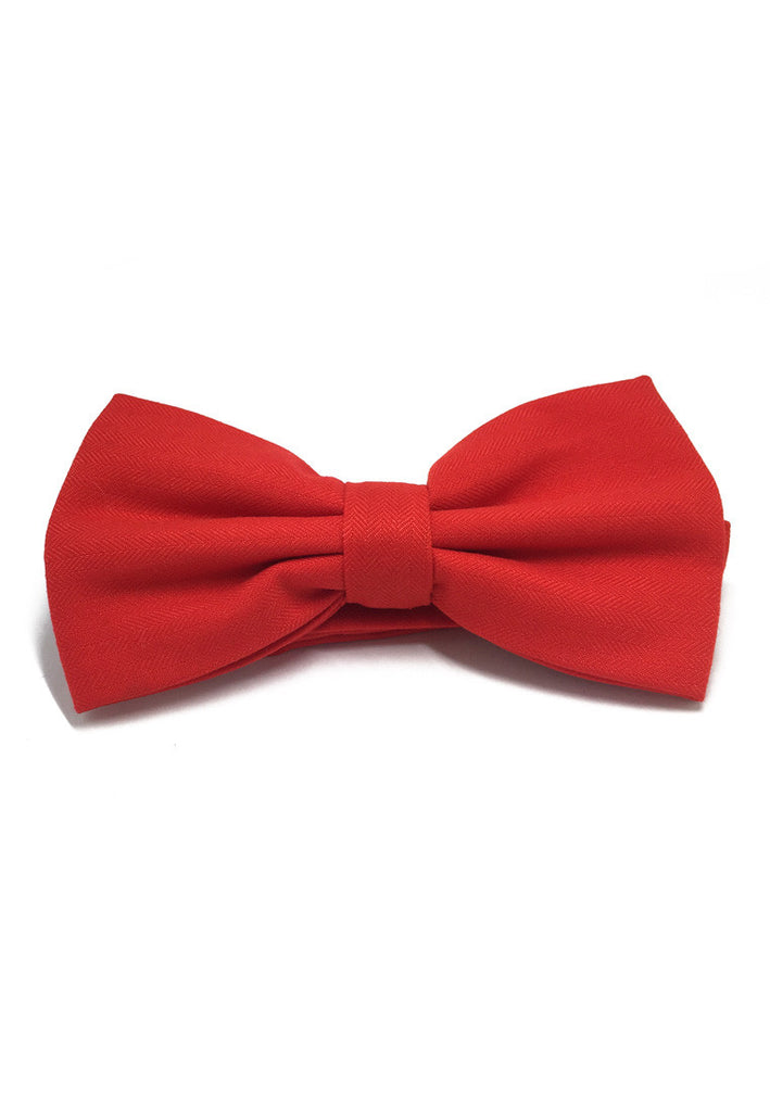 Cinch Series Bright Red Cotton Pre-tied Bow Tie