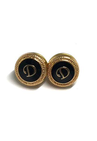 Initials D Collar Pins