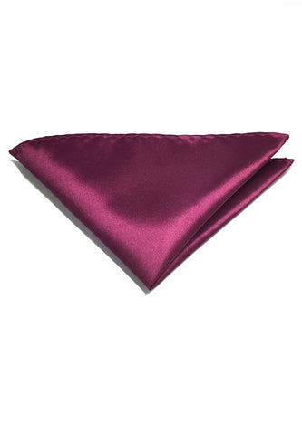 Lustrous Series Plum Purple Polyester Pocket Square
