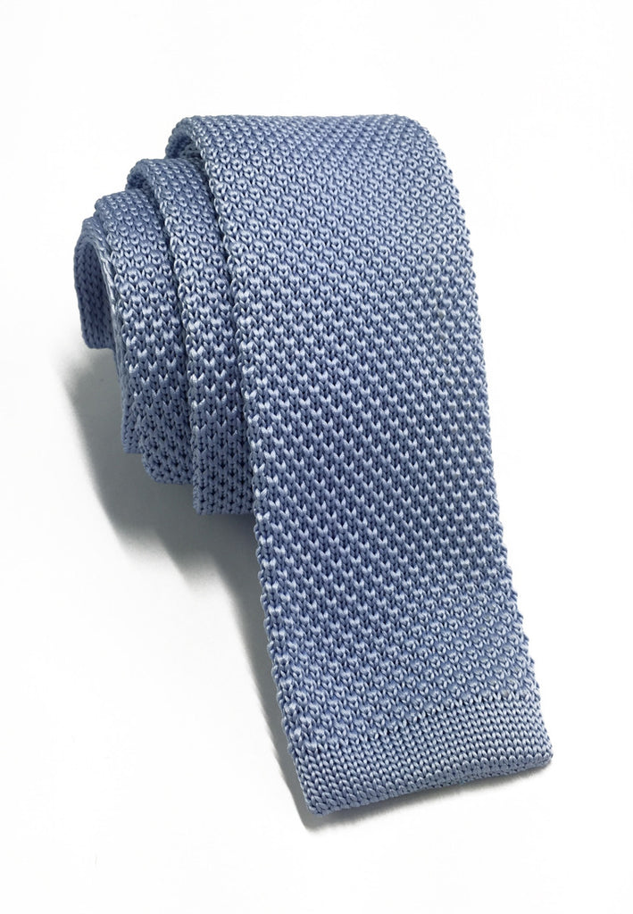 Interlace Series Baby Blue Knitted Tie