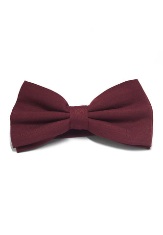 Cinch Series Maroon Red Cotton Pre-tied Bow Tie