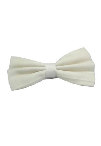 Cinch Series White Cotton Pre-tied Bow Tie