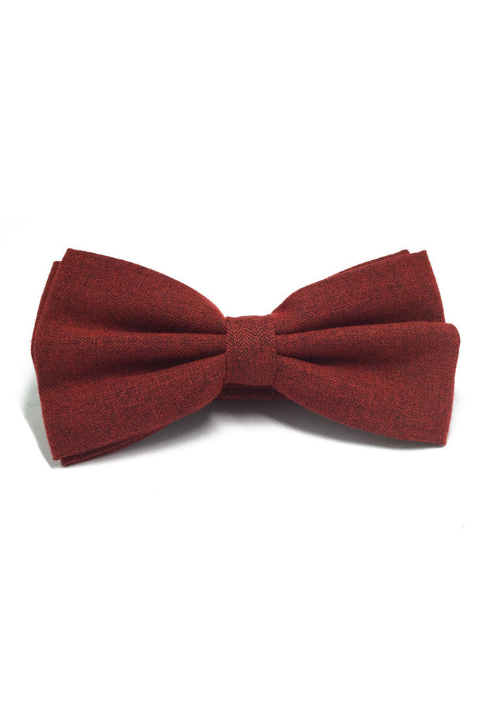 Cinch Series Carmine Red Cotton Pre-tied Bow Tie