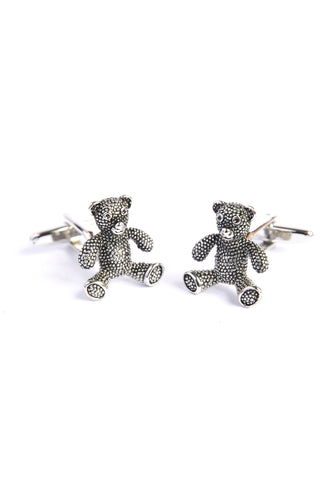 Antique Finish Teddy Bear Cufflinks