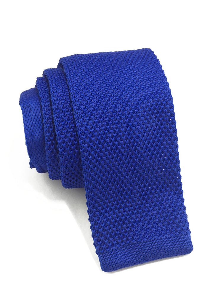 Interlace Series Bright Blue Knitted Tie