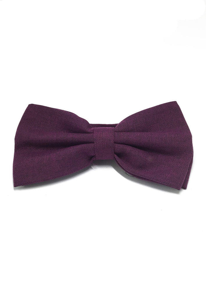 Cinch Series Purple Cotton Pre-tied Bow Tie