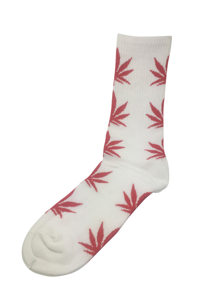 Glee Series Red Leaf White Socks