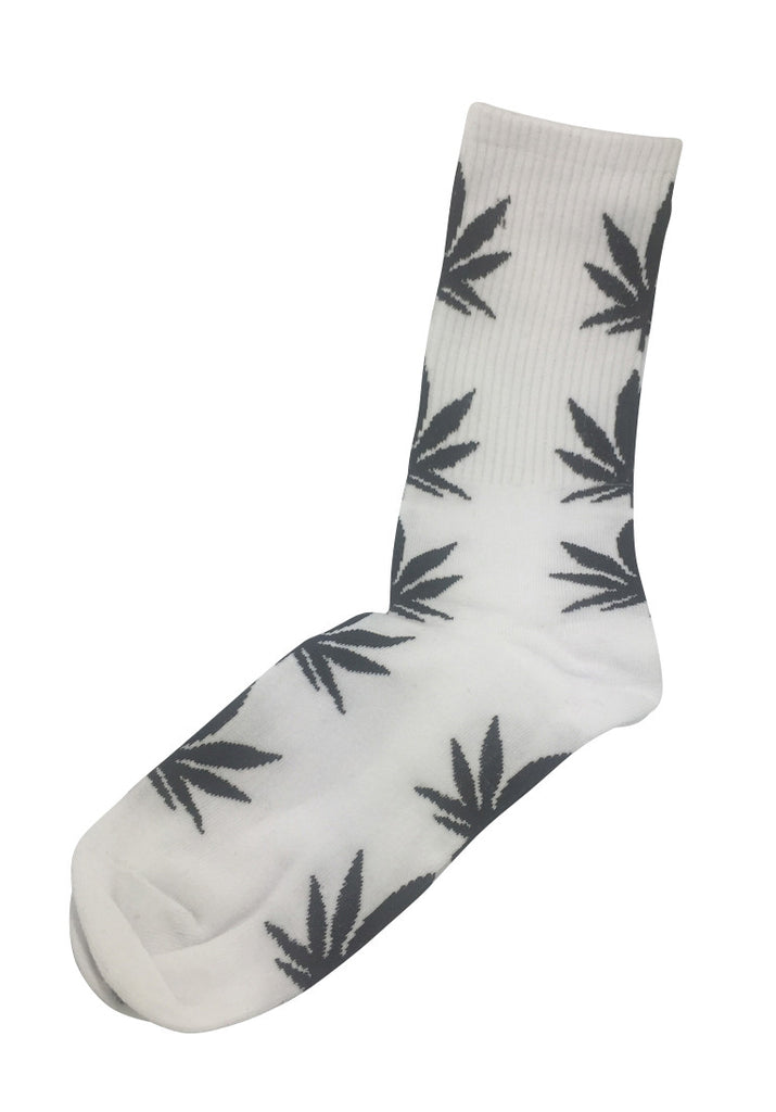 Glee Series Black Leaf White Socks