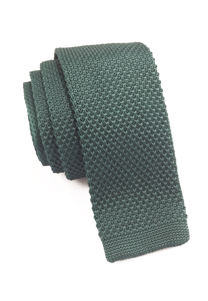Interlace Series Jade Green Knitted Tie