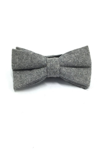 Dolly Series Light Grey Wool Pre-tied Bow Tie