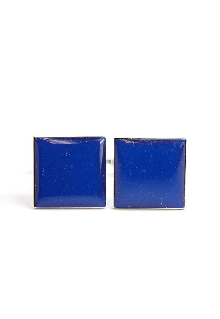 Plain Dark Blue Square Cufflinks