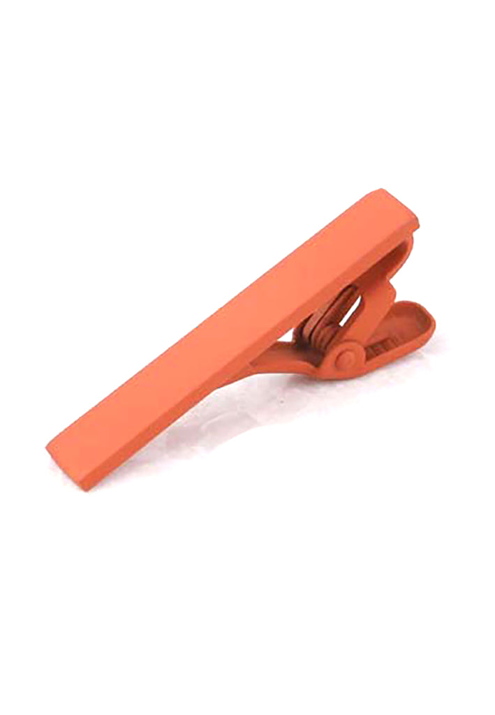 Plain Orange Tie Clips