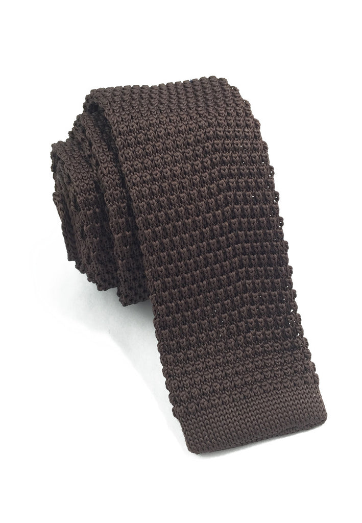 Interlace Series Brown Knitted Tie