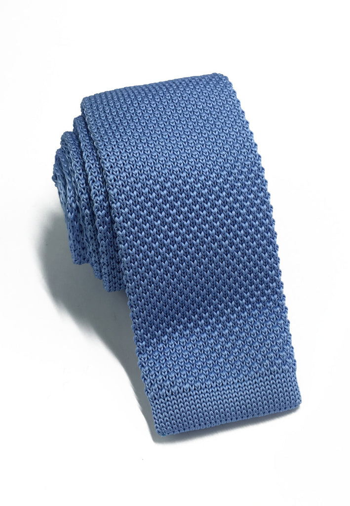 Interlace Series Sky Blue Knitted Tie