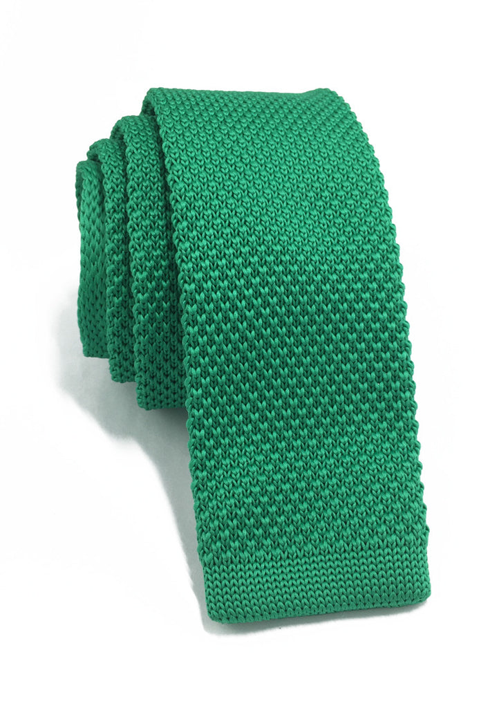 Interlace Series Bright Green Knitted Tie