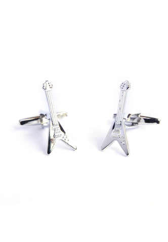 V Shaped Guitar Cufflink