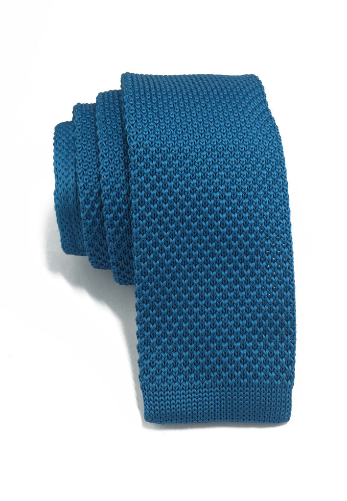 Interlace Series Azure Blue Knitted Tie