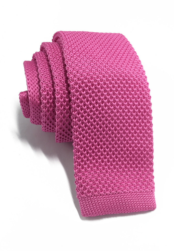 Interlace Series Hot Pink Knitted Tie