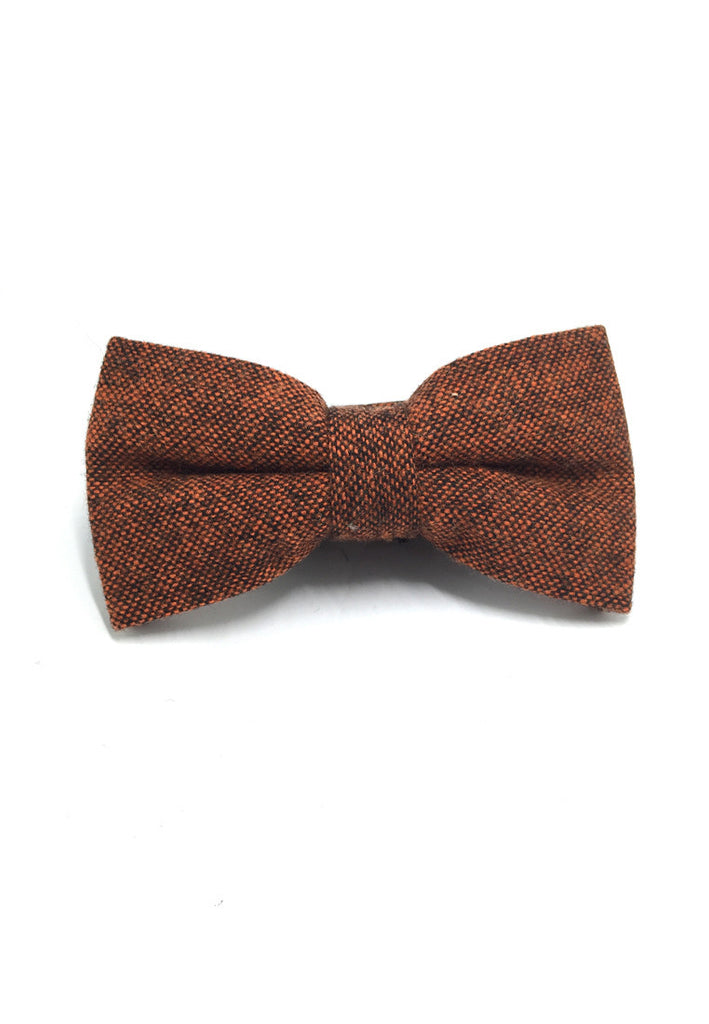 Dolly Series Reddish Brown Wool Pre-tied Bow Tie